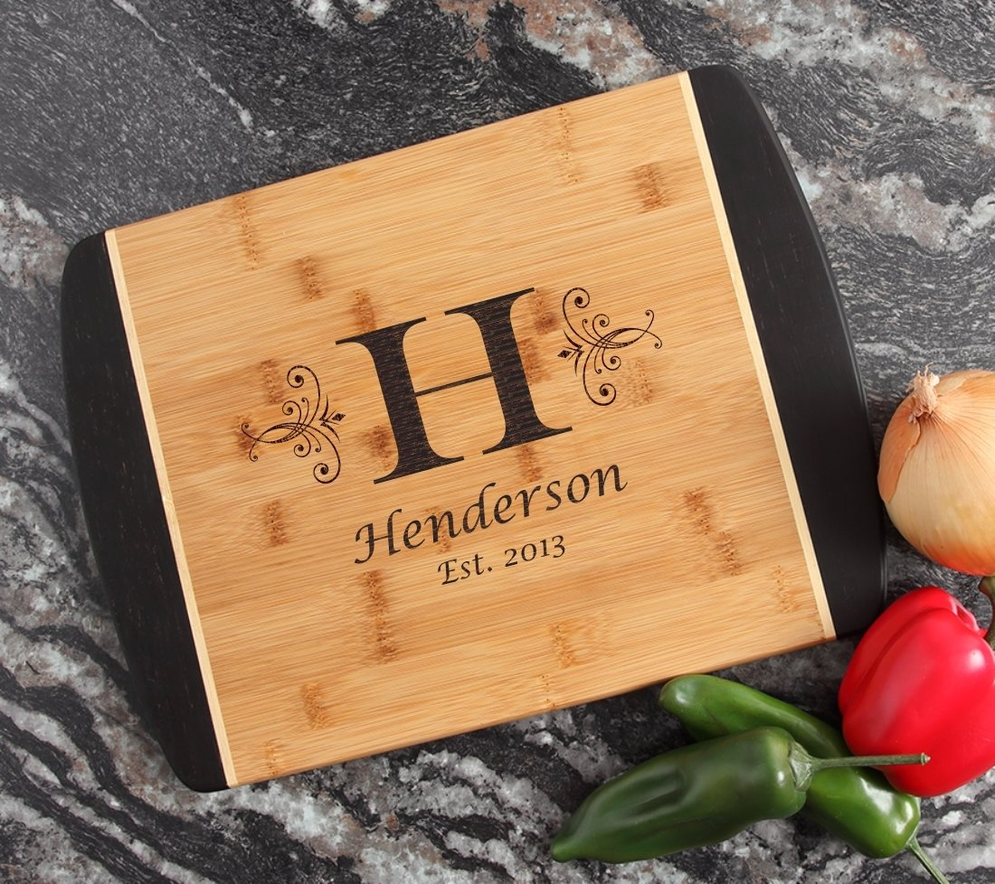 Engraved Cutting Board Personalized Bamboo 15 x 11 DESIGN 2