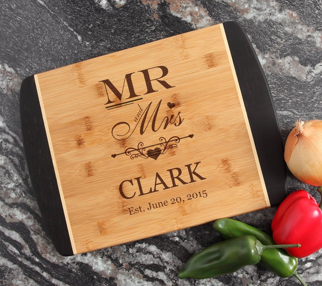 Engraved Cutting Board Personalized Bamboo 15 x 11 DESIGN 21 CBJ-021