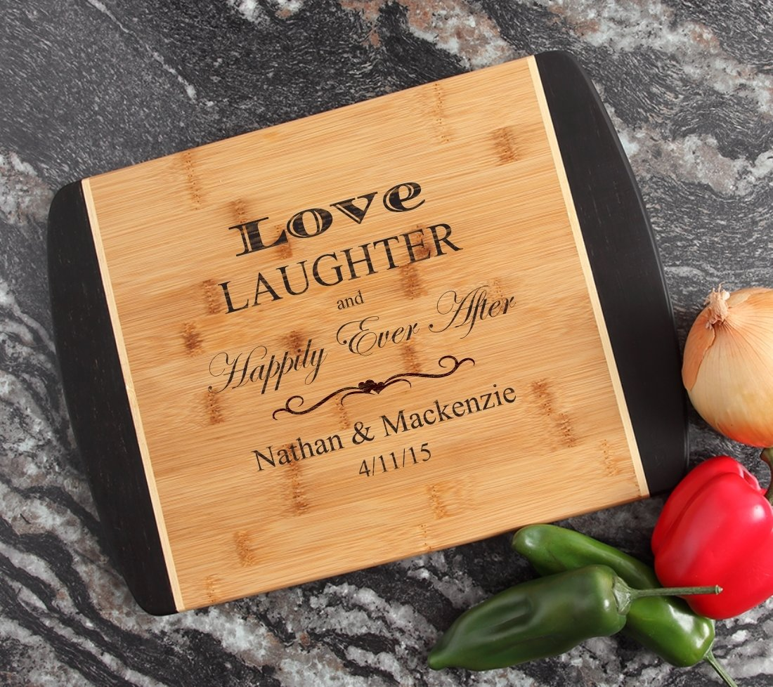 Engraved Cutting Board Personalized Bamboo 15 x 11 DESIGN 26