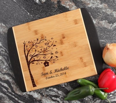 Engraved Cutting Board Personalized Bamboo 15 x 11 DESIGN 27