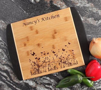 Engraved Cutting Board Personalized Bamboo 15 x 11 DESIGN 30