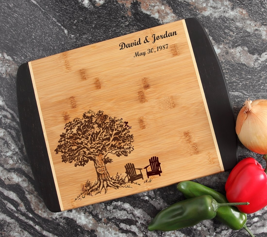 Engraved Cutting Board Personalized Bamboo 15 x 11 DESIGN 31