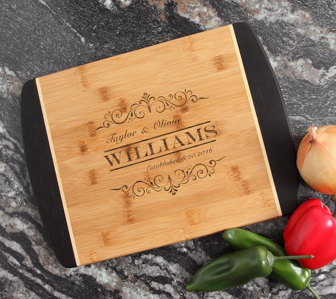 Engraved Cutting Board Personalized Bamboo 15 x 11 DESIGN 34 CBJ-034
