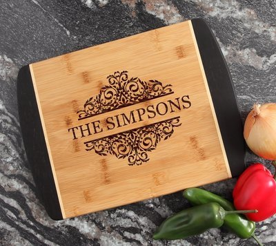 Engraved Cutting Board Personalized Bamboo 15 x 11 DESIGN 39