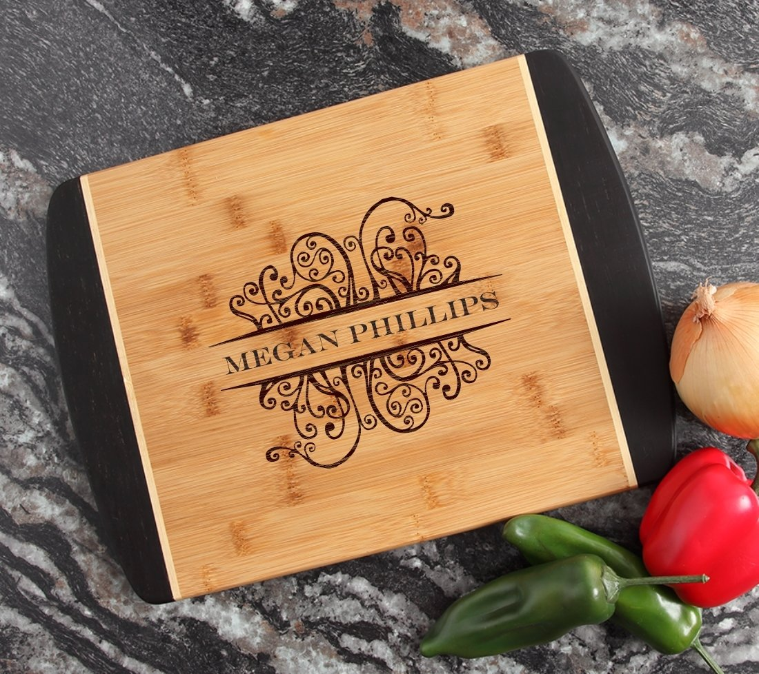 Engraved Cutting Board Personalized Bamboo 15 x 11 DESIGN 4