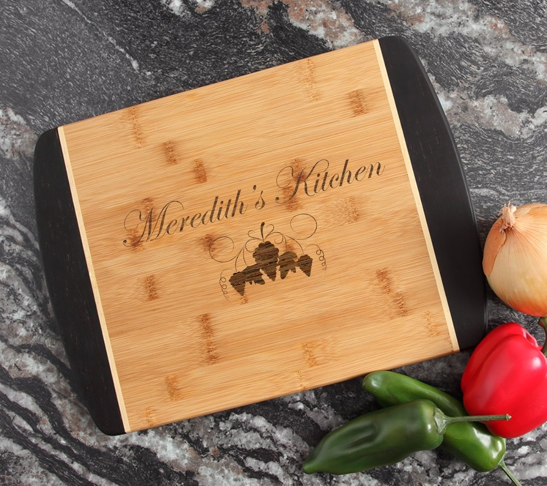 Engraved Cutting Board Personalized Bamboo 15 x 11 DESIGN 40 CBJ-040