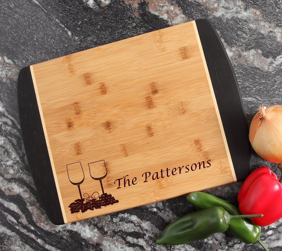Engraved Cutting Board Personalized Bamboo 15 x 11 DESIGN 5 CBJ-005