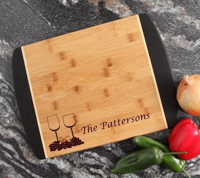 Engraved Cutting Board Personalized Bamboo 15 x 11 DESIGN 5