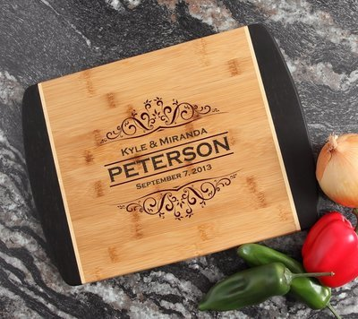 Engraved Cutting Board Personalized Bamboo 15 x 11 DESIGN 7