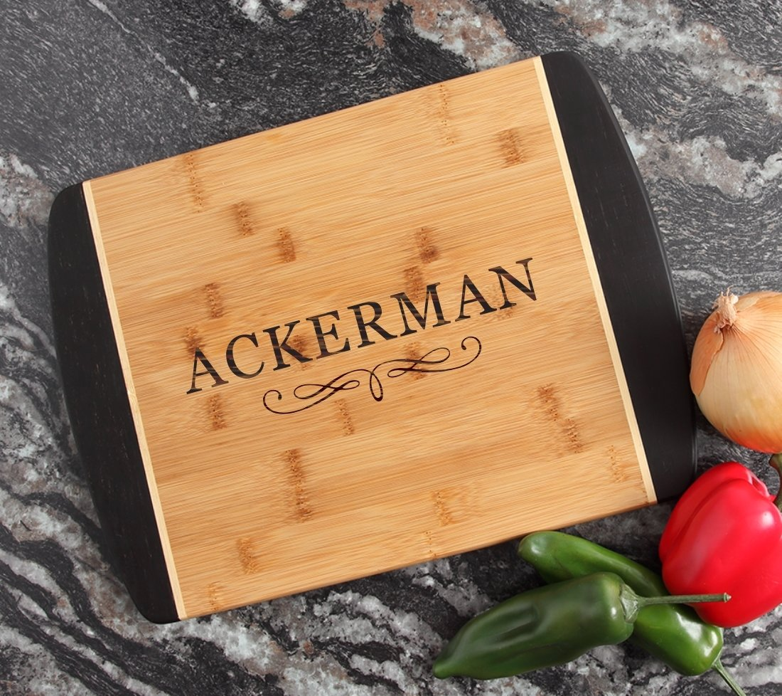 Engraved Cutting Board Personalized Bamboo 15 x 11 DESIGN 8 CBJ-008