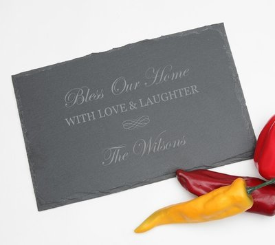 Personalized Slate Cheese Board 11 x 7 DESIGN 22