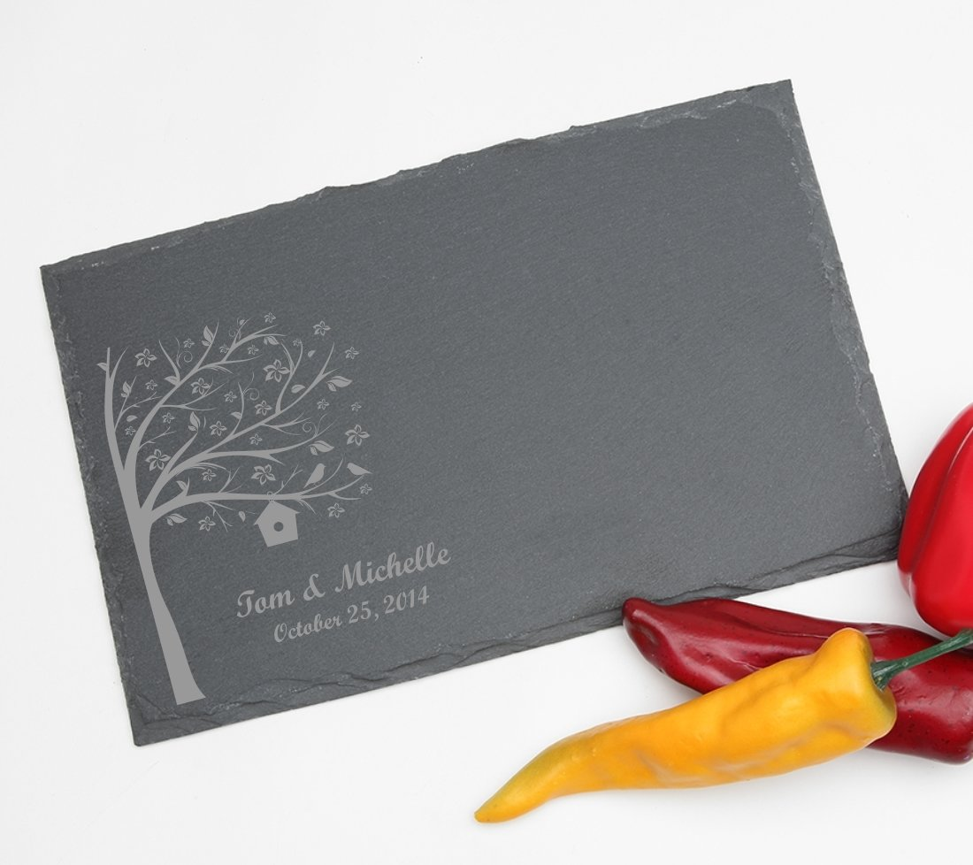 Personalized Slate Cheese Board 11 x 7 DESIGN 27 SCBS-027