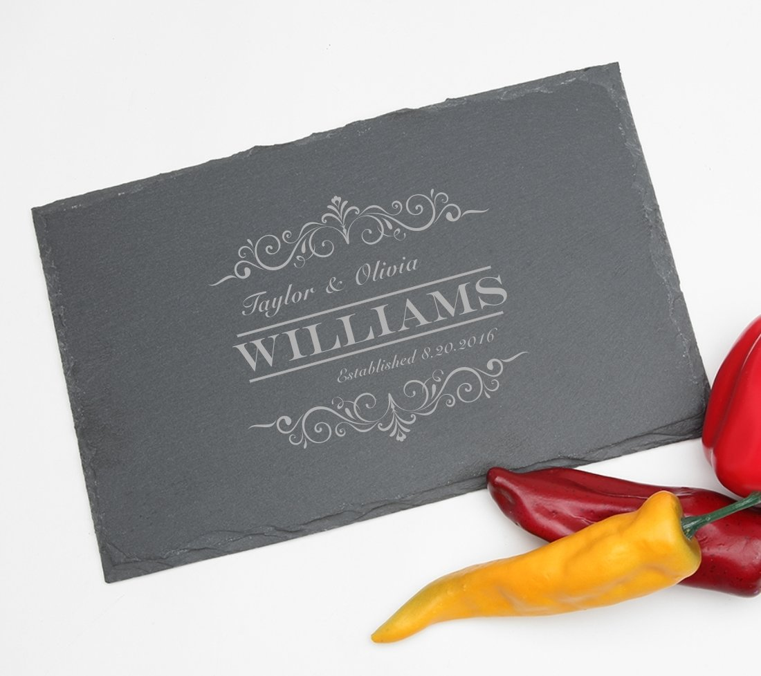 Personalized Slate Cheese Board 11 x 7 DESIGN 34 SCBS-034