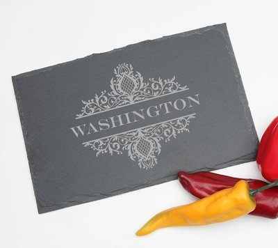 Personalized Slate Cheese Board 11 x 7 DESIGN 36