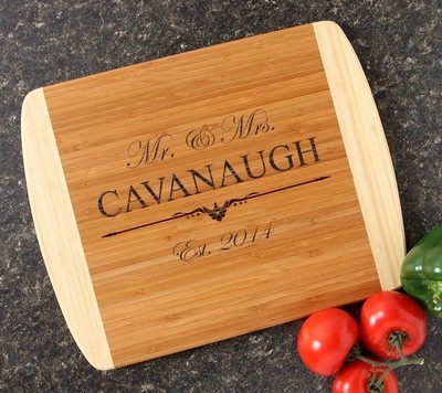 Personalized Cutting Board Custom Engraved 14x11 DESIGN 19