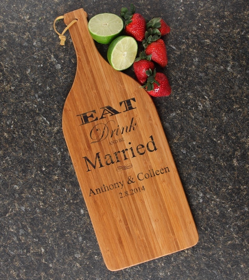 Personalized Cutting Board Engraved Bamboo 16 x 5 DESIGN 17
