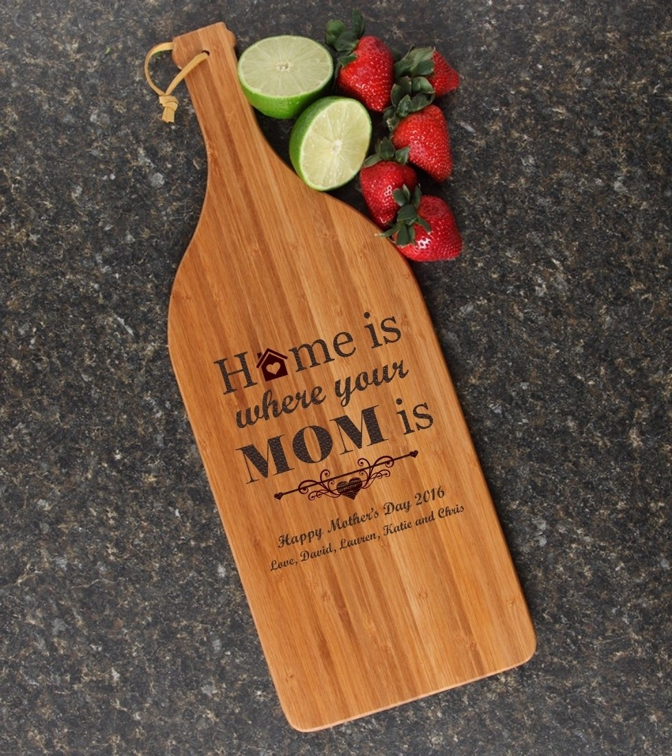 Personalized Cutting Board Engraved Bamboo 16 x 5 DESIGN 42