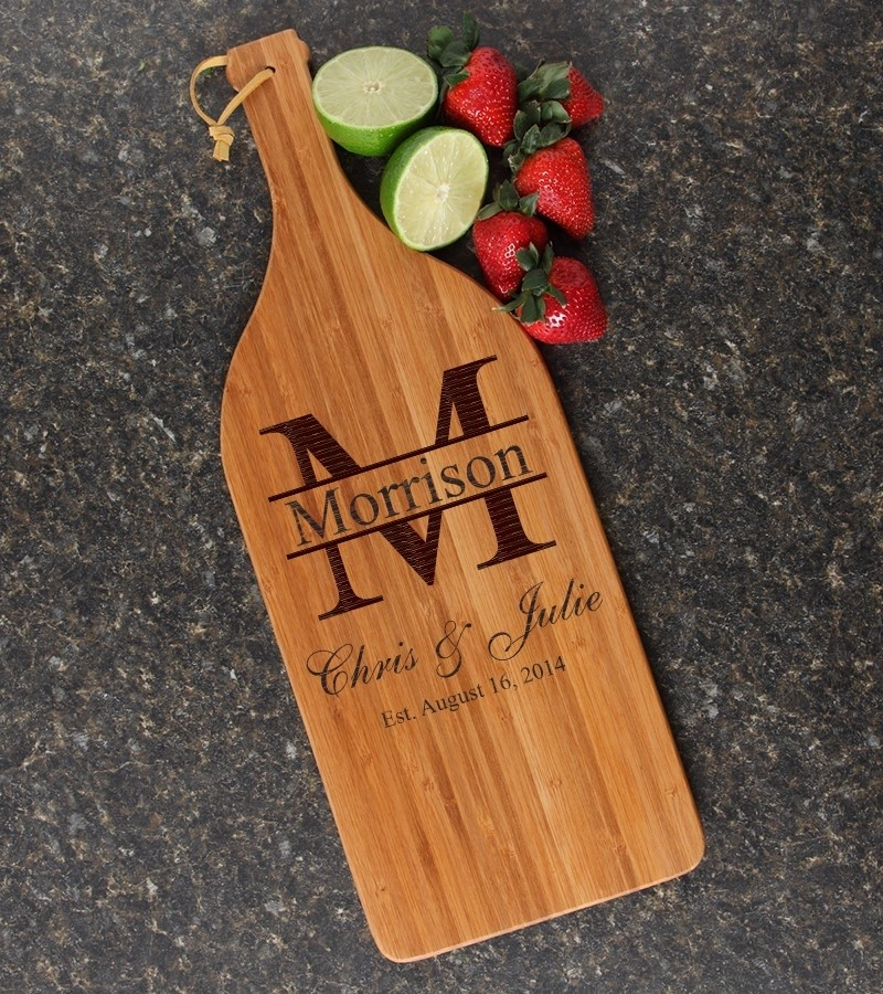 Personalized Cutting Board Engraved Bamboo 16 x 5 DESIGN 24