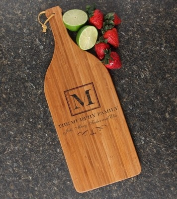 Personalized Cutting Board Engraved Bamboo 16 x 5 DESIGN 41