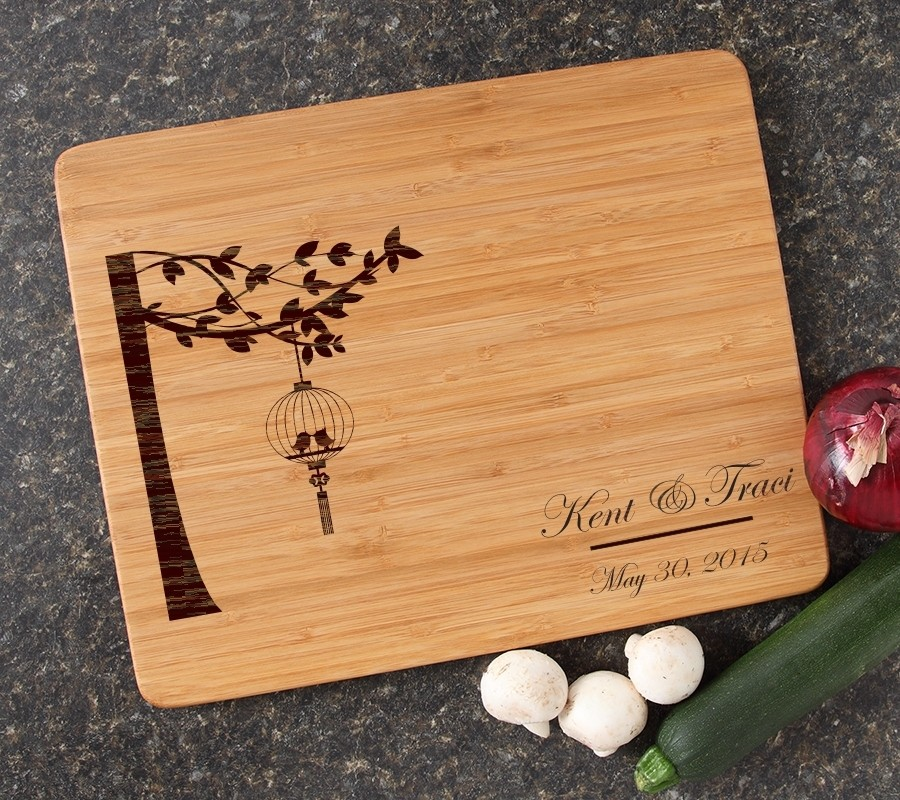 Engraved Bamboo Cutting Board Personalized 15x12 DESIGN 32