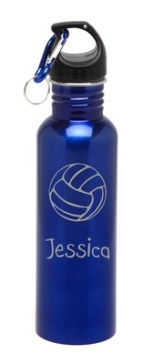Personalized Water Bottle Stainless Steel Water Bottle Volleyball