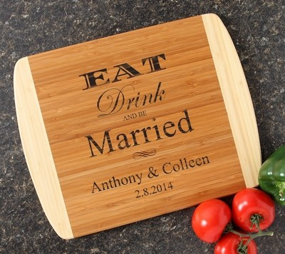 Personalized Cutting Board Custom Engraved 14x11 DESIGN 17