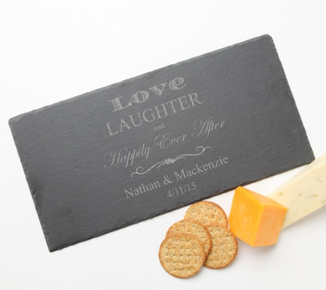 Personalized Slate Cheese Board 15 x 7 DESIGN 26