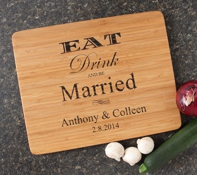Engraved Bamboo Cutting Board Personalized 15x12 DESIGN 17