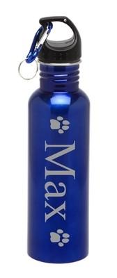Personalized Water Bottle Stainless Steel Water Bottle Pet Paw