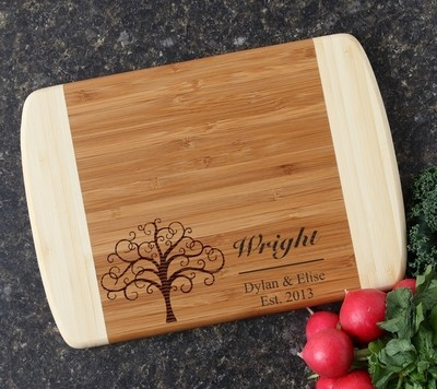 Personalized Cutting Board Custom Engraved 10 x 7 DESIGN 18
