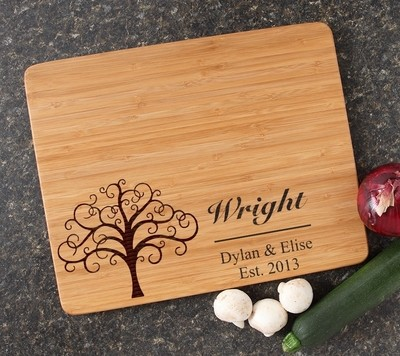 Engraved Bamboo Cutting Board Personalized 15x12 DESIGN 18