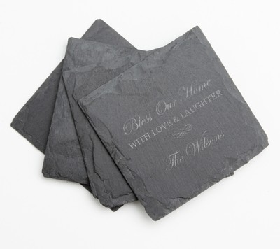 Personalized Slate Coasters Engraved Slate Coaster Set DESIGN 22