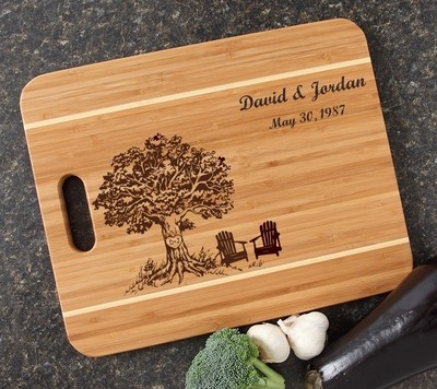 Personalized Cutting Board Engraved 15x12 Handle DESIGN 31