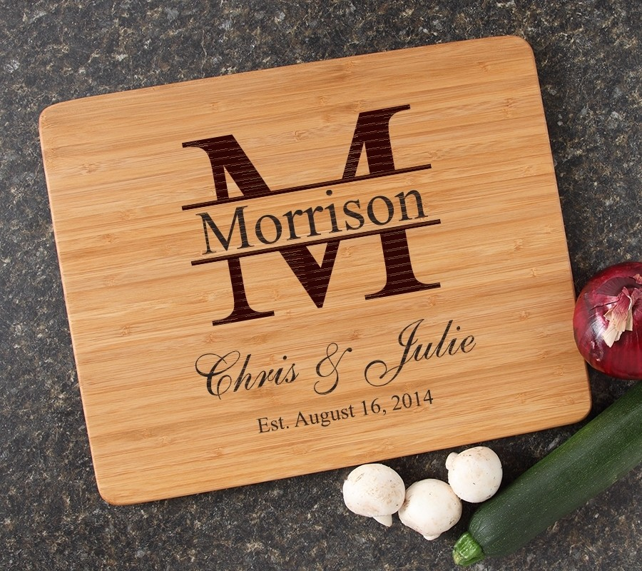 Engraved Bamboo Cutting Board Personalized 15x12 DESIGN 24
