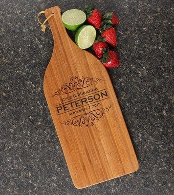 Personalized Cutting Board Engraved Bamboo 16 x 5 DESIGN 7