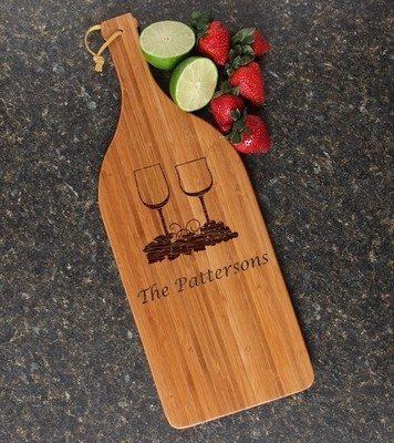 Personalized Cutting Board Engraved Bamboo 16 x 5 DESIGN 5