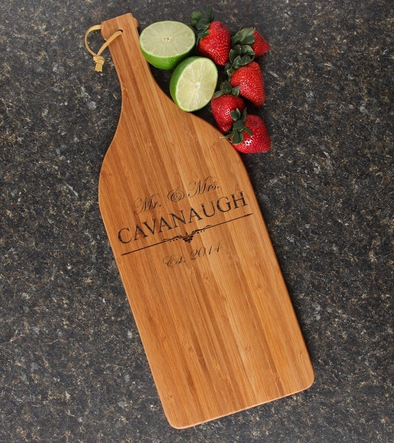 Personalized Cutting Board Engraved Bamboo 16 x 5 DESIGN 19