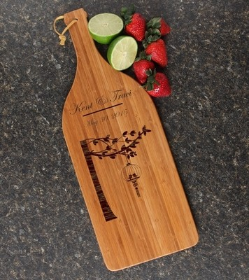 Personalized Cutting Board Engraved Bamboo 16 x 5 DESIGN 32