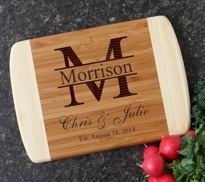 Personalized Cutting Board Custom Engraved 10 x 7 DESIGN 24