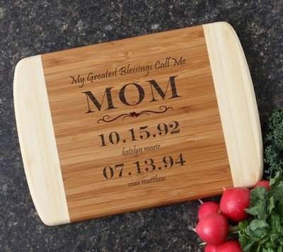 Personalized Cutting Board Custom Engraved 10 x 7 DESIGN 38