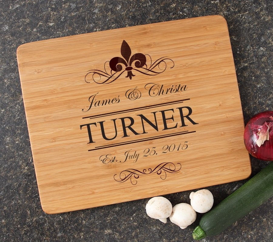 Engraved Bamboo Cutting Board Personalized 15x12 DESIGN 20