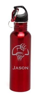 Personalized Water Bottle Stainless Steel Water Bottle Basketball Hoop