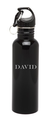 Personalized Water Bottle Stainless Steel Water Bottle Horizontal Name