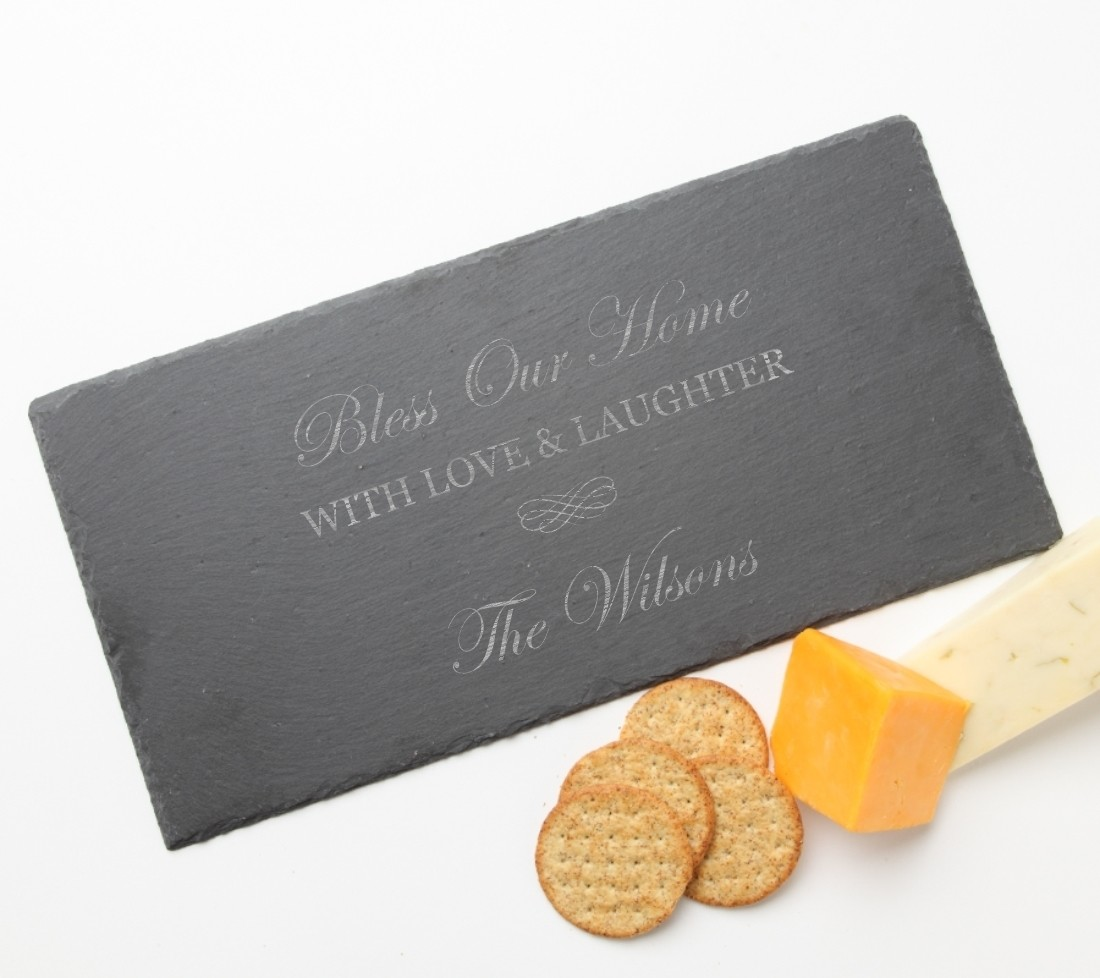 Personalized Slate Cheese Board 15 x 7 DESIGN 22