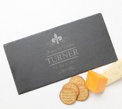 Personalized Slate Cheese Board 15 x 7 DESIGN 20