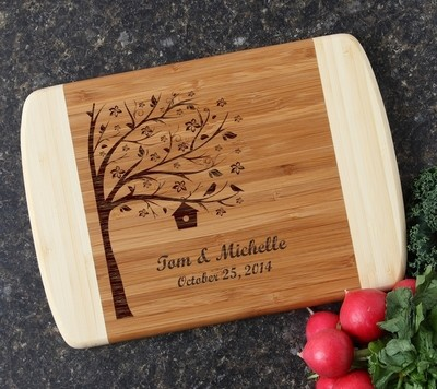Personalized Cutting Board Custom Engraved 10 x 7 DESIGN 27