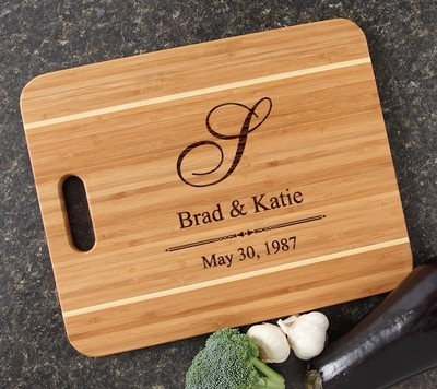 Personalized Cutting Board Engraved 15x12 Handle DESIGN 11