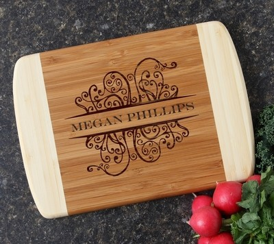 Personalized Cutting Board Custom Engraved 10 x 7 DESIGN 4