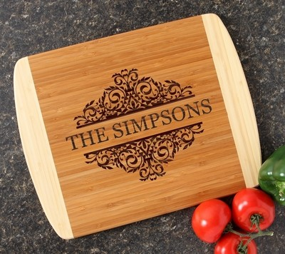 Personalized Cutting Board Custom Engraved 14x11 DESIGN 39
