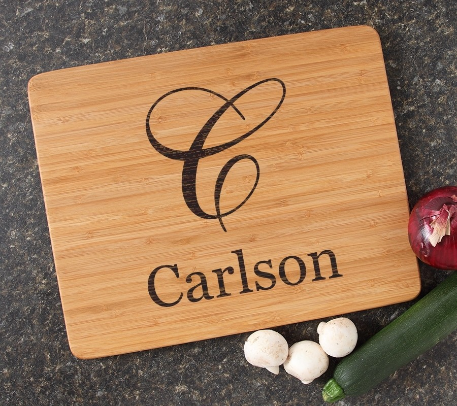 Engraved Bamboo Cutting Board Personalized 15x12 DESIGN 3